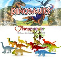 Wholesale 24Pcs inch Mini Colorful Jurassic Dinosaur Toys Kids Dinosaur Party Favor Decoration Pinata Filler Boys Birthday Goody Bag