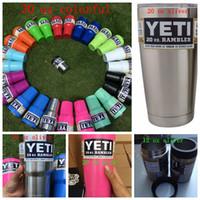 Wholesale YETI Rambler Tumbler oz oz Colorful oz Cooler Cup Vehicle Beer Mug Double Wall Bilayer Stainless Steel mug KKA683