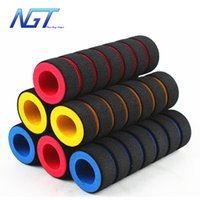 Wholesale NGT Pairs MTB Mountain Bike Grips spongia On Handlebars Grips Fixed Gear Fixie Grips End knock off