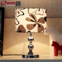 Wholesale 2015 new simple and stylish lighting lamp bedside lamp Fabric bedroom lamp button switch