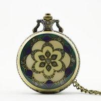 antique ceramic clocks - atches Clocks Pocket Fob Watches New x47mm Fashion Vine Elegant Ceramics Flowers antique Pocket fob Watch Necklace For men and women