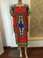 Wholesale Hipster woman African fashion design african traditional print Dashiki T tee Shirt dress african wanmen