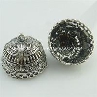 Wholesale 18671 Vintage Silver Totem Filigree mm Beads Cap Tassels End Pendant