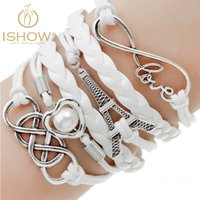 agate buy - Buy get Bracelets fashion jewelry gift infinite double leather multilayer Charm bracelet for woman jewelry price