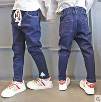 Wholesale 2016 autumn and winter new children s pants Children all match trousers Girls fashion edition jeans children s clothing jeans