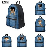 Wholesale New Fashion School Backpack D Pet Cat Printing Backpack Animal Laptop Bag Casual Backpacks for Teenager