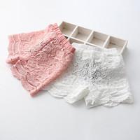 beautiful pants - Beautiful Lace Girl Shorts Good Quality Lining Pure Cotton Children s Lace Shorts Kids Short Pants Hot Pants cute princess pink white