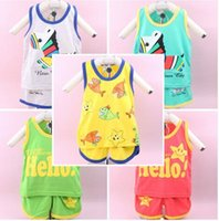 Cheap Unisex baby suit long climb clothes Best Summer 100% Cotton gentleman clothing baby