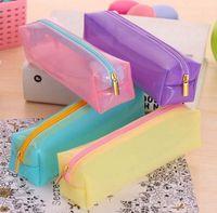 Wholesale Student Kid High Capacity Girl New Zipper Makeup Pencil Box Stationery Pen Bag
