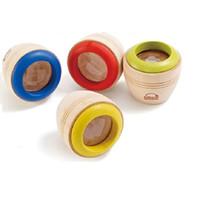 Venta al por mayor-2016 Promoción Rushed madera calidoscopio educativos Juguetes Sensoriales Juguetes individual de madera del juguete de la abeja de ojos Kaleidoscope Prisma color al azar