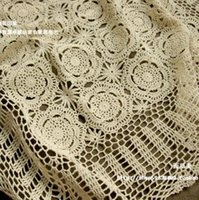 beautiful dining table - Beautiful design hook needle crochet Large dining table cloth vintage cotton lace cutout knitted tablecloth square