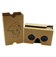 Wholesale DIY Google Cardboard V2 glasses VR boxes Virtual Reality D Viewing google II Glasses with head strap for iphone plus se Samsung S7