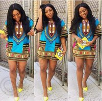 Wholesale African Dashiki Dresses For Unisex African Clothes Hippie Shirt Caftan VintageTribal Mexican Top Bazin Riche Ethnic Clothing CCA4570