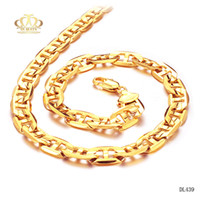 allergy necklaces - Trendy Gold Chain For men Jewelry never fade and anti allergy layers k Real Gold Plated snake Necklace Chain