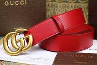 Wholesale Big buckle gg belts high quality belts with box Fashion belt genuine leather designer belt for men and women brand free ship
