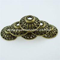 antique bronze bead caps - 12760 Vintage Antique Bronze Tone Alloy mm Spacer Bead End Beads Caps