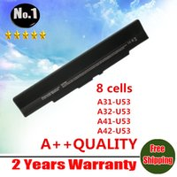 Wholesale New laptop battery for Asus U33 U33J U42 U43 U52 U53 U53F U53J A31 U53 A32 U53 A41 U53 A42 U53