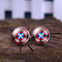 america cufflinks - 2016 Clothing For Men cuff shirt buttons Captain America Photo Glass Cabochon Cuff buttons To High Quality Mens Cufflinks Hot Buttons