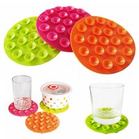baby coasters - Baby Child Bowl Silicone Non slip Suction Bowl Pot Dishes Meal Pad Mat Home Kitchen Holder Coaster New Table Decor