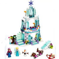Wholesale New Arrival Princess Castle Building Blocks Anna Elsa Educational Brick Ice Castle Play Set Gift For Girl