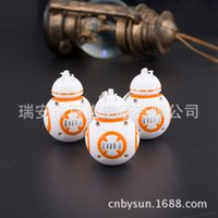 bb flashlight - New Star Wars The Force Awakens BB8 BB R2D2 Droid Robot LED keychain Action Figure stormtrooper Clone Strap New year toys