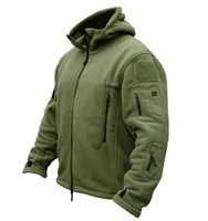 al por mayor chaqueta al aire libre térmica-TAD manera al aire libre de la chaqueta táctico Soft Shell Fleece con capucha de la chaqueta de deporte de los hombres de la chaqueta de las sudaderas con capucha termales hombres del ejército chaqueta deportiva