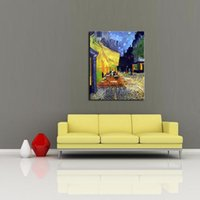 art terrace - LK14 Cafe Terrace At Night Vincent Van Gogh Landscape Oil Paintings On Canvas Wall Art Modern Print Handmade On Canvas Oil Paintings For