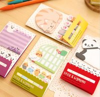 animal paper bookmarks - Animal Cat Panda Cute Kawaii Sticky Notes Post It Memo Pad School Supplies Planner Stickers Paper Bookmarks Korean Stationery HJIA572