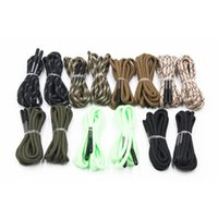 Wholesale Outdoor Survival Paracord Parachute Cord Flint Fire Starter Shoelaces Camping Hiking Climbing Fishing Rope Shoe Laces