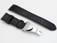 Wholesale 22mm Leather Strap L Deployment Buckle Watch Bands only the strap buckle Business Style P378
