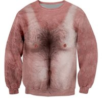 Wholesale Brand Sexy Cool Hairy chest Sweatshirt tattoo sticker d print unisex men women long sleeve hip hop shirts winter autumn young girls junior