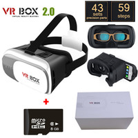Wholesale VR BOX Version VR Glasses Google Cardboard for quot quot Smart Phone GB DGames with package