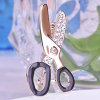 asian stool - New Fashion Jewelry Stool Jewelry Lovely Scissors Brooch for Party Women Brooch Collar Accessoris HB00005
