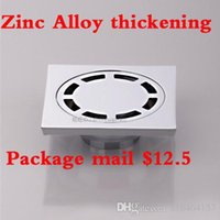 Wholesale Balcony and kitchen bathrooms sewer deodorization and anti blocking square zinc alloy floor drain thickening