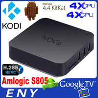 Wholesale Original Quad Core MXQ Smart TV Box Android Amlogic S805 Kodi Fully Loaded Media Player Update TV Box