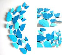 Wholesale New Color Plain Blue Magnetic Pins D Simulation of the with D Butterfly Wall Decoration can be Moved Wall Stickers the Fridge Stickers