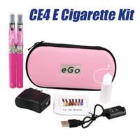 best case manufacturer - Double CE4 E Cigarette Starter Kit mah mah mah Battery Ego t Electronic Cigarettes Kits Best E Cig Manufacturer With Zipper Case
