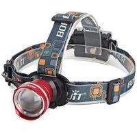 Wholesale 3 Mode Waterproof Lm CREE Battery Pack LED Flashlight Super Bright Headlight Headlamp Torch Lanterna with Headband