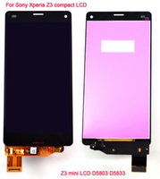 Wholesale For Sony Xperia Z3 compact LCD Z3 mini LCD D5803 D5833 display touch screen with digitizer glass Assembly