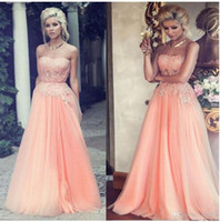 Wholesale Real Image A line Sweetheart Neck Sleeveless Lace Applique Prom Dress Floor Length Glitter Crystal Beaded Pageant Dress Homecoming Dress