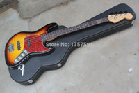 Wholesale factory sale High Quality Vintage Active pickups F strings Sunburst Electric bass with Hardcase
