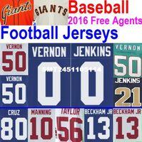 baseball agents - 2016 Free Agents American Football Baseball Janoris Jenkins Jersey Women Kids Olivier Vernon Jersey Custom ny Giants Jersey XL