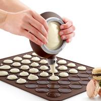 Wholesale Silicone Macaron Macaroon Pastry Oven Baking Mould Sheet Mat Cavity DIY Mold Baking Mat Esteiras Forros De Cozimento