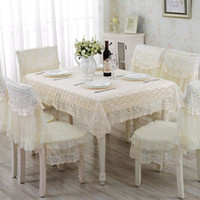 Wholesale 1 Piece European Rural Lace Table Cloth Lace Tablecloth Chair Cover Modern Household Adornment Tablecloth