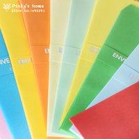 Wholesale Colorful Candy Colored Vintage Envelope Vertical Version of a Long Solid Envelope Paper Envelops