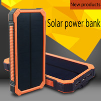 battery long lasting - New Solar power bank mAh highlight LED double output phone charger long lasting high capacity mabile battery