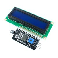 Wholesale Module For Arduino Blue Backlight LCD Display x2 HD44780 Character LCD IIC I2C W Serial Interface Adapter Board UNO Nano