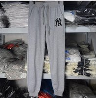 baseball pencils - Spring burst models sports pants male cotton pants feet NY baseball pants pants received