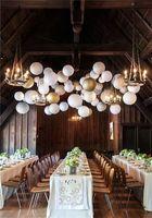 achat en gros de la plupart des morceaux-Le plus populaire mariage chaude couleurs blanches super romantique Led pendaison lanterne de papier pour le mariage table jusqu'à la lumière 10 pièces / Lot