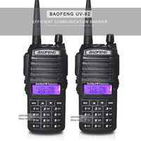 Wholesale 2pcs Handheld Walkie Talkie BaoFeng UV Dual Band MHz MHz with Double PTT Button radio UV82 Walkie Talkie